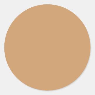 金ゴールドのタン色 ラウンドシール
