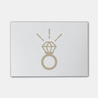 金ゴールドのダイヤモンド指輪 ポスト・イット®ノート