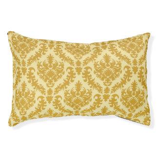 金ゴールドのダマスク織