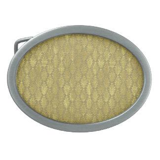 金ゴールドのダマスク織 卵形バックル