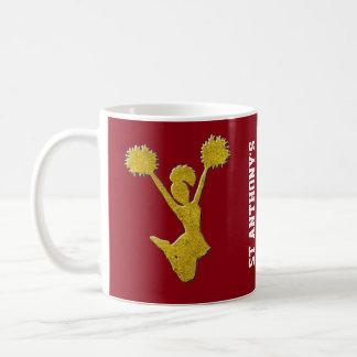 金ゴールドのチアリーダー コーヒーマグカップ