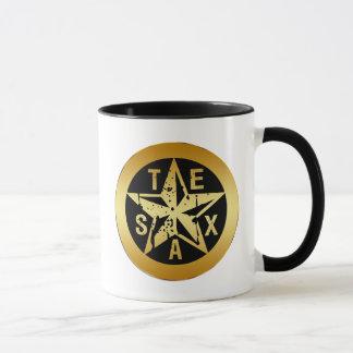 金ゴールドのテキサス州星 マグカップ