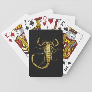 金ゴールドのトランプの蠍 トランプ