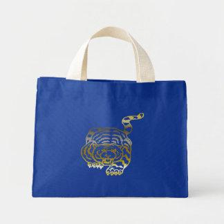 金ゴールドのトラ-小さいトート ミニトートバッグ