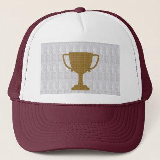 金ゴールドのトロフィの水晶白人の背景NVN287の勝者 キャップ