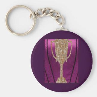 金ゴールドのトロフィ: 賞の報酬のお祝い キーホルダー
