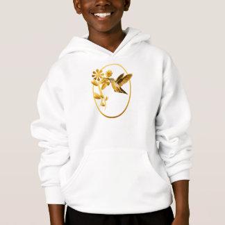 金ゴールドのハチドリによって組み立てられるワイシャツ