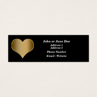 金ゴールドのハートの名刺 スキニー名刺
