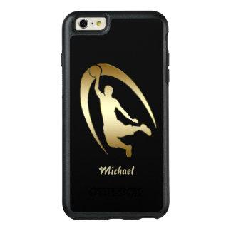 金ゴールドのバスケットボール選手 オッターボックスiPhone 6/6S PLUSケース