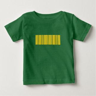 金ゴールドのバーコード ベビーTシャツ