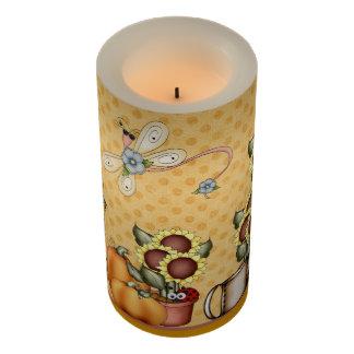 金ゴールドのヒマワリの国はカボチャ秋の庭を整えます LEDキャンドル