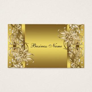 金ゴールドのビクトリアンな花のエレガントな金ゴールド 名刺