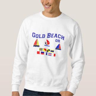 金ゴールドのビーチかシグナルフラグ スウェットシャツ