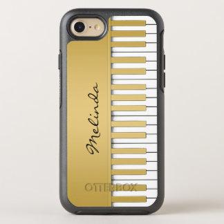 金ゴールドのピアノキーボード音楽 オッターボックスシンメトリーiPhone 8/7 ケース
