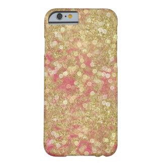 金ゴールドのピンクの輝きの《写真》ぼけ味の点 BARELY THERE iPhone 6 ケース
