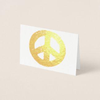 金ゴールドのピースマークホイル 箔カード
