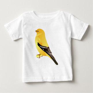 金ゴールドのフィンチ ベビーTシャツ