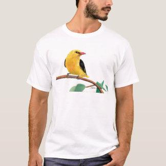 金ゴールドのフィンチ Tシャツ