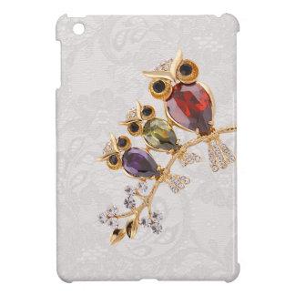 金ゴールドのフクロウの宝石のペイズリーのレースのプリント iPad MINIケース