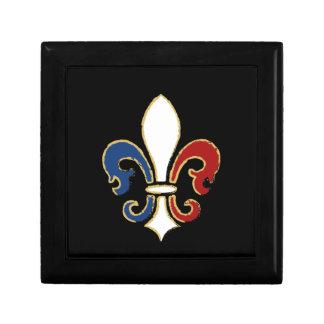 金ゴールドのフランスのな旗の(紋章の)フラ・ダ・リ ギフトボックス