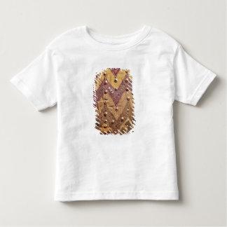 金ゴールドのプラクが付いている刺繍された生地のセクション トドラーTシャツ