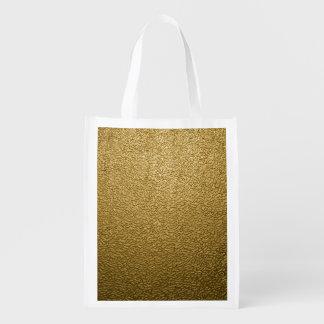 金ゴールドのプラスチック エコバッグ