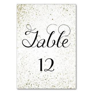 金ゴールドのペンキの(ばちゃばちゃ)跳ねるのテーブル数