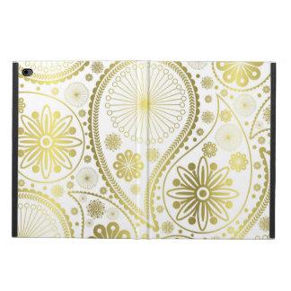 金ゴールドのペーズリーパターン POWIS iPad AIR 2 ケース