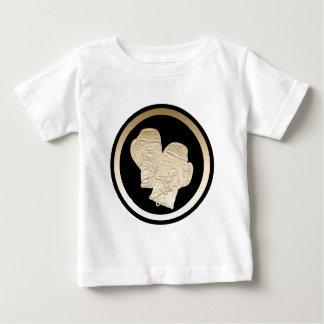 金ゴールドのボクシンググラブ ベビーTシャツ