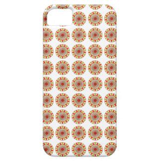 金ゴールドのボーダーヒマワリのチャクラの曼荼羅 iPhone SE/5/5s ケース