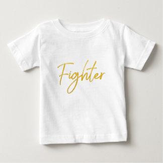 金ゴールドのマーカーの戦闘機の原稿の刺激のギア ベビーTシャツ