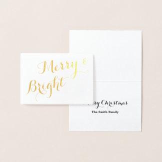 金ゴールドのメリーで、明るいクリスマス 箔カード