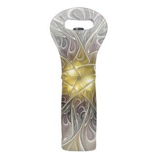 金ゴールドのモダンの抽象芸術のフラクタルの花との華麗さ ワイントート