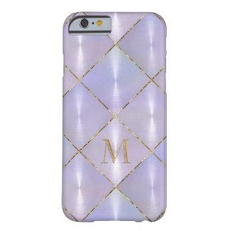 金ゴールドのモノグラムとの紫色の真珠母 BARELY THERE iPhone 6 ケース