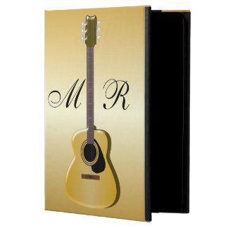 金ゴールドのモノグラムのなアコースティックギター iPad AIRケース