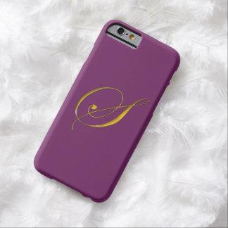 金ゴールドのモノグラムのイニシャルSのIPhone6ケース Barely There iPhone 6 ケース