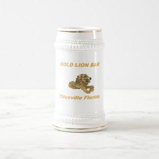 金ゴールドのライオンのバー ビールジョッキ