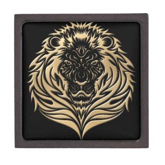 金ゴールドのライオンの黒 ギフトボックス