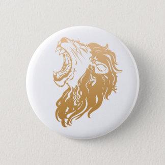 金ゴールドのライオン 缶バッジ