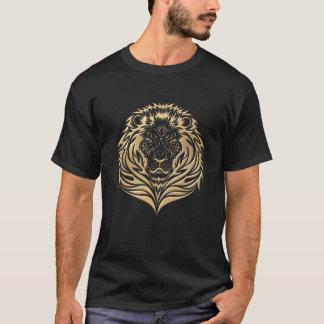 金ゴールドのライオン Tシャツ