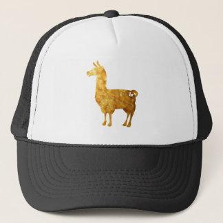 金ゴールドのラマの帽子 キャップ