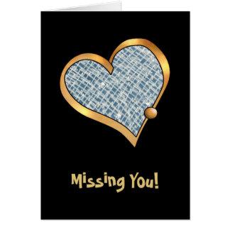 金ゴールドのリボンのトリムと輪郭を描かれる愛ハート カード