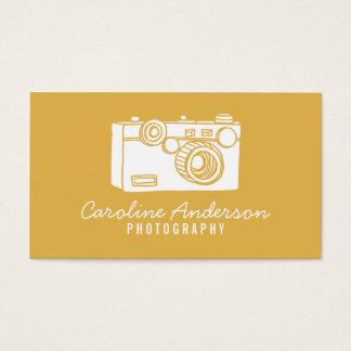 金ゴールドのレトロのカメラのカメラマンの名刺 名刺