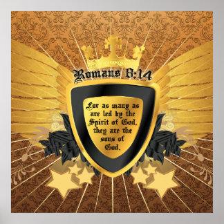 金ゴールドのロマンの8:14、神の息子 ポスター