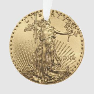 金ゴールドのワシの硬貨 オーナメント