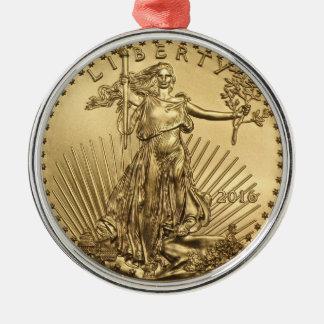 金ゴールドのワシの硬貨 メタルオーナメント