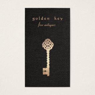 金ゴールドのヴィンテージの合い鍵の時代物の家具のディーラー 名刺