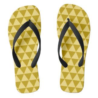 金ゴールドの三角形 ビーチサンダル