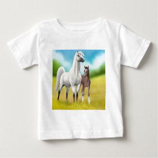 金ゴールドの乳児のTシャツの分野 ベビーTシャツ