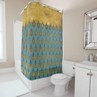 金ゴールドの光沢があるプリンセスの人魚のグリッターのスケール シャワーカーテン